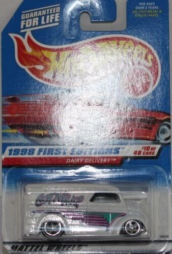 Hot Wheels DAIRY DELIVERY première édition USA Long Carte Nice