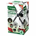 Solar and Wind Powered Light up Garden Windmill Traditional Ornament Fun Bpion3