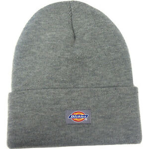 Dickies Mens 14-Inch Cuffed Double Knit Cap Beanie Hat Skull NEW ... 72a80b8d5f68