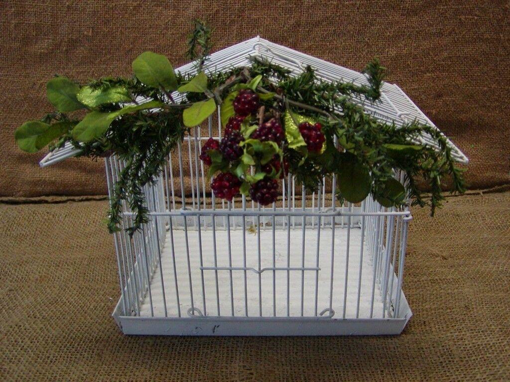 Vintage Bird Cage Cage Cage   Old Antique Shabby Unique Design 56b2aa