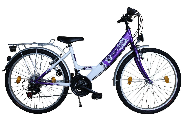 Damenfahrrad 26 Zoll Fahrrad Delta Harmonia SHIMANO SHIMANO SHIMANO 18 Gang STVZO Lila Weiss 68d721
