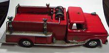 Vintage 60's Tonka #5 Fire Engine Suburban Pumper 2 Hydrants Hoses Pressed Steel