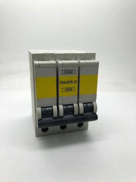 Square D QOE D32 QO332ED10 Triple Pole MCB 32Amp Type D Circuit Breaker Motor