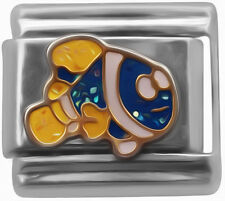 Italian charm Cartoon fish 9mm link    (D48)