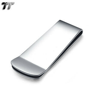UNIQUE-T-amp-T-SILVER-Stainless-Steel-MONEY-CLIP-NEW-MC03S