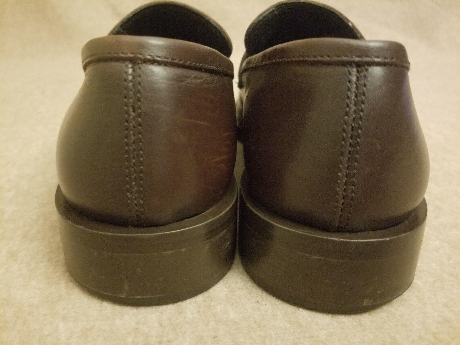 dc530d812893 ... Versace Classic V2 Men Men Men Silver Tag Strap Brown Leather Slip On  Dress Loafer Sz ...