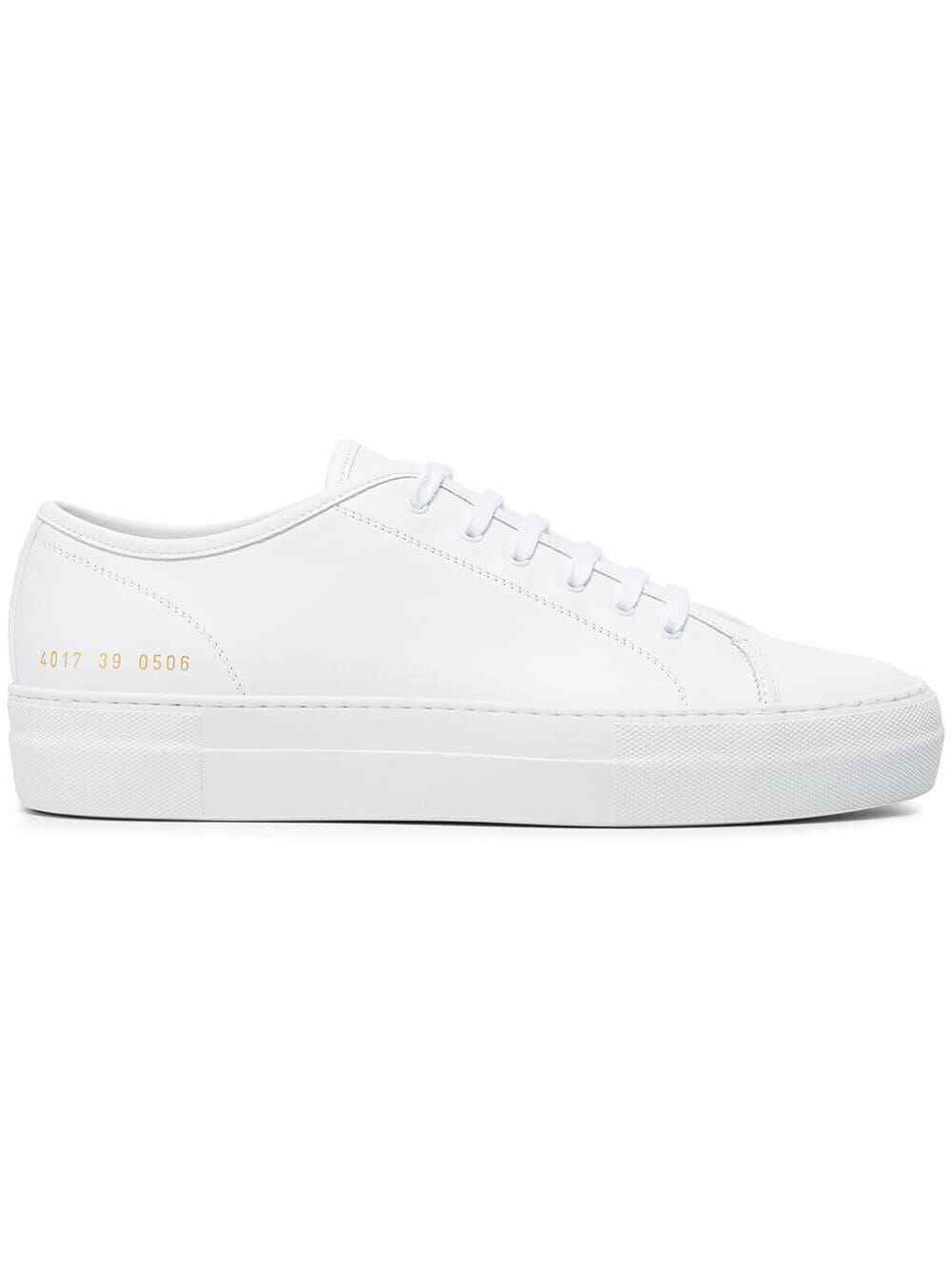 New Common Projects trainers Weiß 4017 Tournament Low Super Sole flatform woman