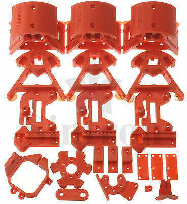 Kossel Mini Plastic Printed Parts for RepRap Rostock Delta 3D Printer, PLA Red