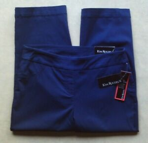 Kim Rogers Super Stretch navy blue capris women's size 6 NWT