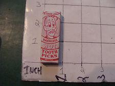 vintage TRICK/GAG/JOKE, 1950'S HOT TOOTH PICKS in box purchased 1959