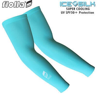 Fiolla Cool-Shell Womens Cooling Cycling Running Sleeves UV UPF Protect SPF 50