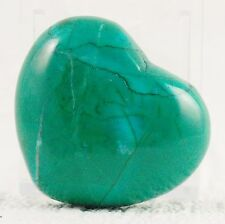 MALACHITE & CHRYSOCOLLA PUFF HEART CARVING, 73 g, Healing Crystal 4.5 x 2.5 cm
