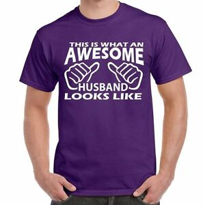 Image Is Loading Awesome Husband Mens Funny Printed TShirts Tops Novelty