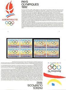 Bien Informé Emission Commune France Espagne Jeux Olympiques Alberville1992 / N° P2760 ** Ventes Pas ChèRes 50%