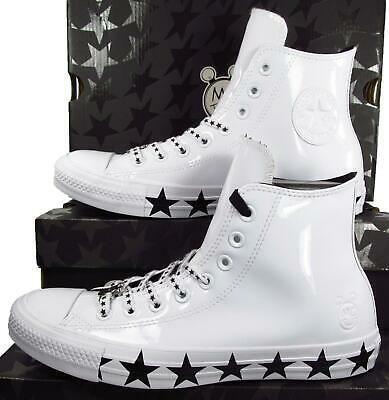 Converse x Miley Cyrus Chuck Taylor All Star Hi White Black Faux Patent 563719c | eBay