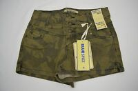 Women's/juniors Blue Spice High Waist Camouflage Shorts Size 0,1