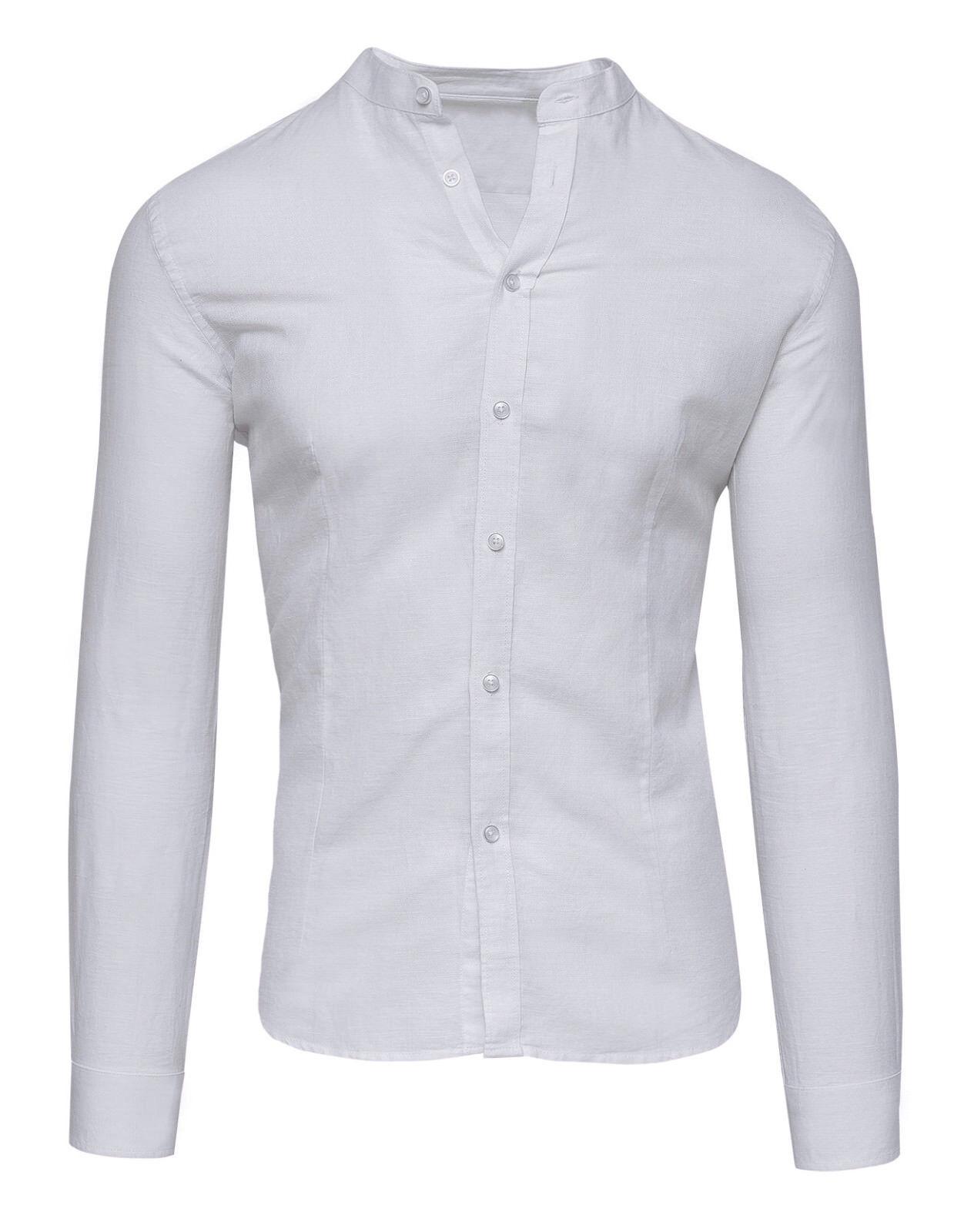 Herrenhemd sartoriale aus Leinen weiß weiß weiß Sommer slim fit angepasst Tag s m l xl xxl | eine breite Palette von Produkten  | Vollständige Spezifikation  aa1f56
