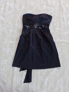 a46eb879b1b0 Image is loading Free-Fusion-Target-Black-Strapless-Dress-Women-039-