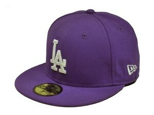 NEW ERA 59Fifty MLB Los Angeles Dodgers Purple Lavender Polyester ... 92539c592bf