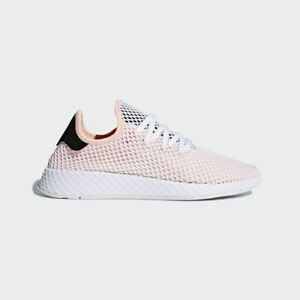 the latest af6a3 385f6 Image is loading Adidas-Originals-Deerupt-Runner-Peach-Pink-White-Running-