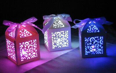 Glowing Party Table Decoration - Super Bright LED light in laser cut box