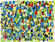 NEW YORK CITY MARATHON abstract modern art painting oil contemporary
