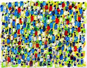 NEW YORK CITY MARATHON abstract modern art painting oil contemporary - France - Type: Huile Caractéristiques: Signé Période: XXme et contemporain Authenticité: Original mis en vente par lartiste Genre: Expressionnisme Thme: Personnage - France