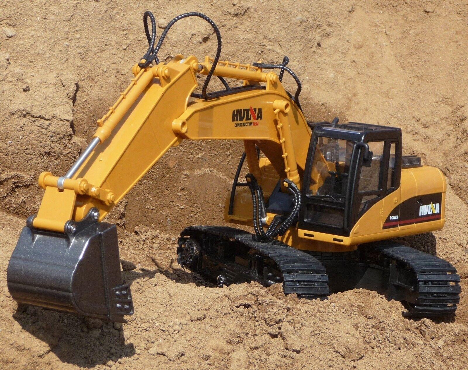 RC pala escavatore con 12 funzioni & 55cm lunghezza da postazione remota 2,4ghz 1550