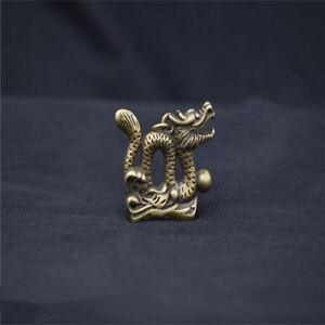Chinese-Pure-brass-Dragon-small-statue-pendant-NO-99