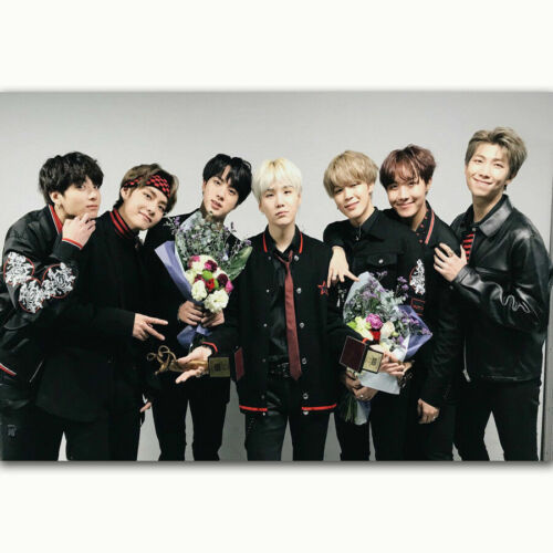 N304 New BTS Korea Pop Music Boys Group Stars Custom Poster Silk Art