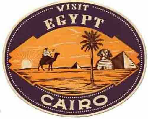 Egypt Vintage Looking Travel Decal Sticker Luggage Label ...