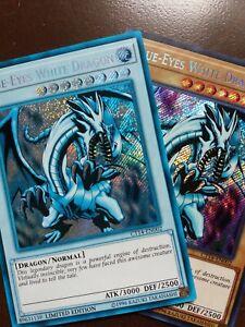 "Secret Rare ""GHOST"" Blue-Eyes White Dragon CT14-EN002 - Altered Art - Misprint"