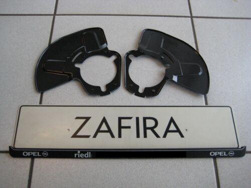 2 Abdeckbleche Ankerbleche vorne original Zafira B vom Opel Händler