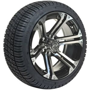 14 Inch Tires >> Details About Set Of 4 14 Inch Gtw Specter Machined Golf Car Wheels On 205 30 14 Street Tires