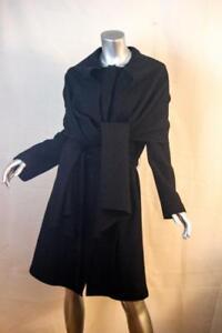 Størrelse Alpaca Coat 8 Baby Lang Haan Cole uld sort Womans qwpgSFY8x