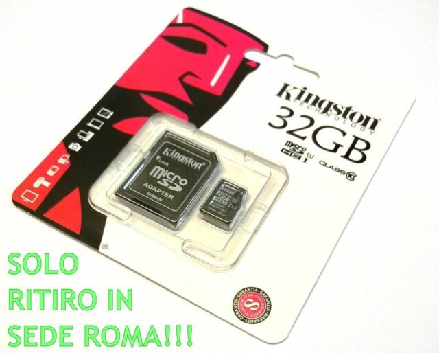 Zs- KINGSTON MICROSD 32GB TransFlash 32 GB Micro SD SDHC classe 10 SDC10/32GB;RI