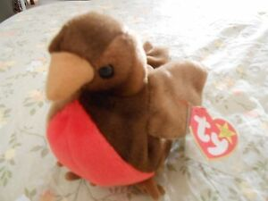 913040e28d5 RARE Retired Original TY Beanie Baby EARLY The Robin 3 ERRORS MINT ...