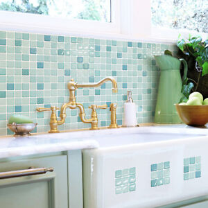 self adhesive wall tiles peel and stick backsplash kitchen bathroom