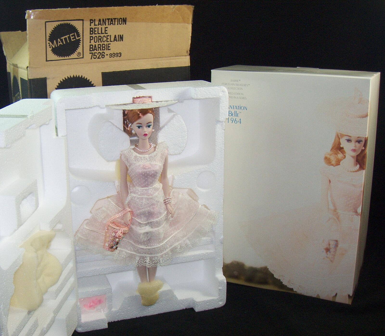 Plantation Belle ROThead Barbie Porzellan Schätze Coll Ltd Ed Absender NRFB '91