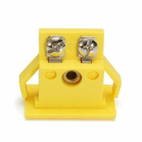 1 Set K-Typ Stecker Buchse Panel Miniatur Halterung Verbinder Aluminium Adapter