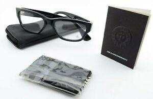 Chrome Hearts Glasses Happy Valley BK 54 17 Black Frame .925 Japan c2010 + Case