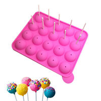 20 Silicone Stick Lollipop Cake Mould Tray Cupcake Stick Pop Party Home Decor