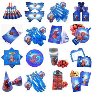SPIDERMAN-birthday-Party-Supplies-Sacs-Vaisselle-Assiettes-Tasses-Decoration-Ballon