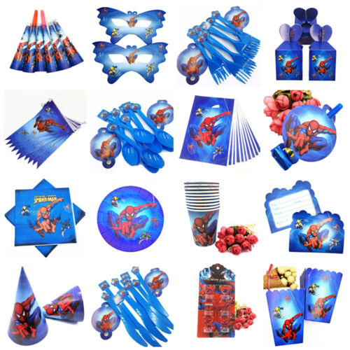 SPIDERMAN birthday Party Supplies Loot Sacs Filler Vaisselle Assiettes Décoration