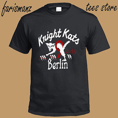 New KNIGHT KATS Berlin Motor Racing Logo Men/'s White T-Shirt Size S to 3XL