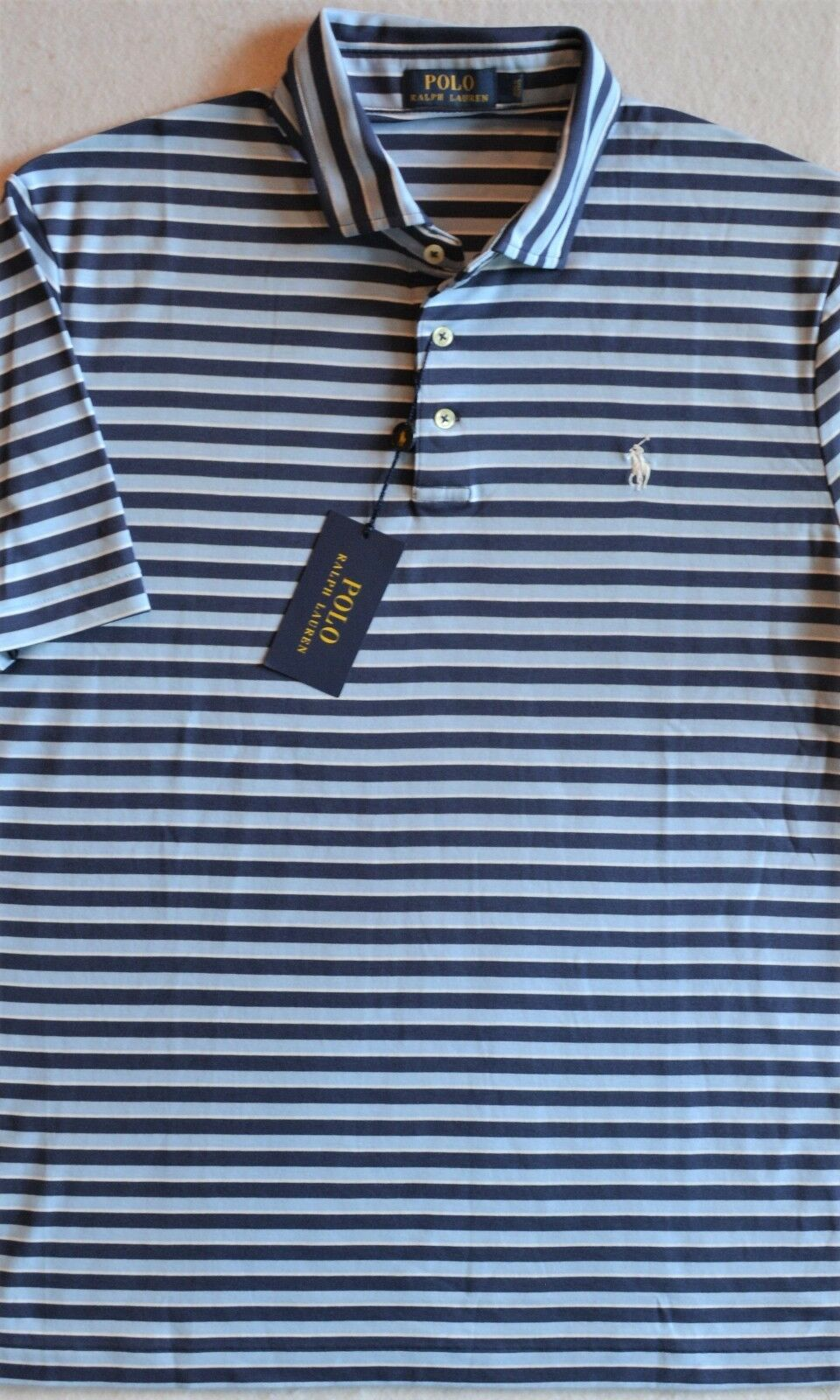 ca0f1c25f38b9 Polo Ralph Lauren Soft Touch Striped   XL NWT Shirt L nyshrq6874-Casual  Shirts   Tops. Firetrap Men s Polo shirt White Short Sleeve ...