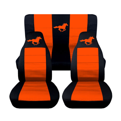 Car Seat Covers 2005-2007 Ford Mustang Convertible Front Rear Horse Design
