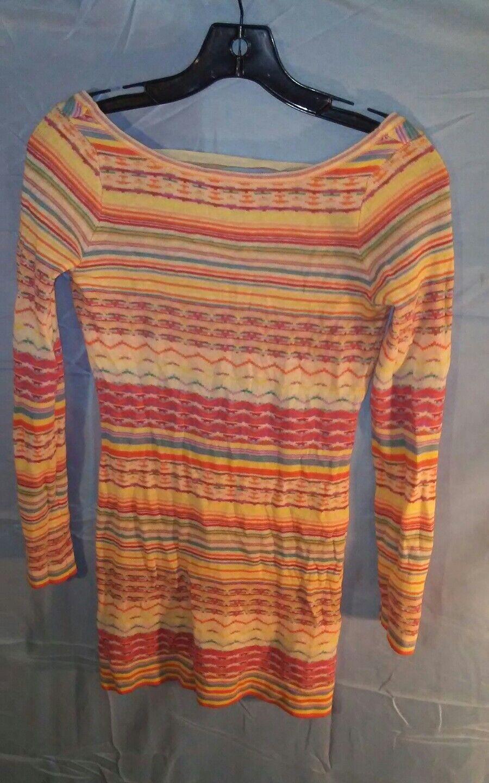 Torn By Ronny Kobo Kathryn Retro Jacquard Knit Dress Ivory w  Multi Farbe sz XS