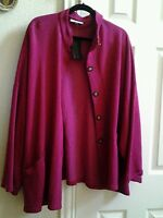 Bryn Walker Bamboo / Cotton Danuta Jacket Boxy Top Pink Size L Msrp $148