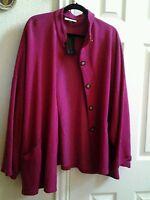 Bryn Walker Bamboo / Cotton Danuta Jacket Boxy Top Pink Size L Msrp $148
